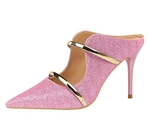 Sintético Zapatos Miyoopark ds1788 Rosa Vestir Para Mujer De Miyooparkuk 1 wax1qtUY