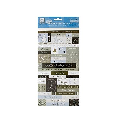 Deja Views Fresh Verse Wedding Cardstock Stickers