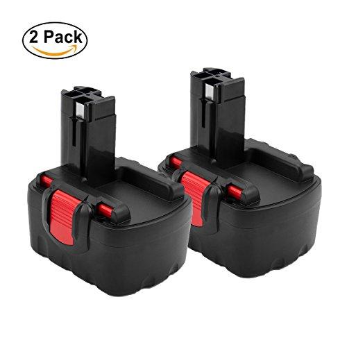Creabest 14.4V 3.0Ah Ni-MH Replacement Battery for Bosch BAT038 BAT040 BAT041 BAT140 BAT159 13614 2607335275 2607335533 2607335534 2607335711 2607335465 2607335685 2607335678 2607335276 (Pack of 2)
