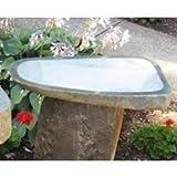Stone Age Creations BB-BO-3 Granite Boulder Birdbath, Natural, Medium For Sale