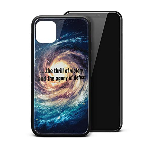 RANYG Case for iPhone 11 Pro Max The-Thrill-of-Victory-and-The-Agony-of-Defeat. Printed Shock-Absorbing TPU Silicon Rubber Phone Case