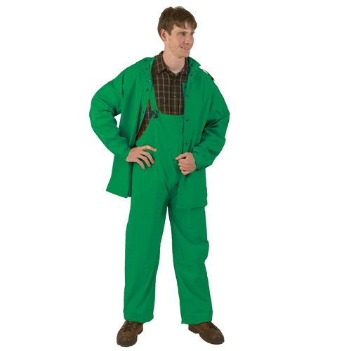 Texsport Men's Three Piece P.V.C. Rainsuit (Hunter Green, Medium)