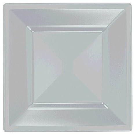 Amazon.com: Amscan Shiny Square Plastic Plates, 10 3/4\