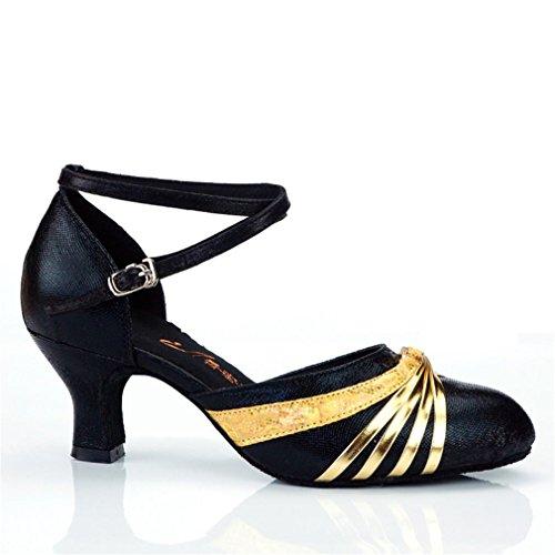 Chica Modern Latino Alto 5 Baile BYLE de Tobillo Zapatos de Bailando 5cm Hembra de Zapatos Samba Fondo Baile Adulta Jazz de Zapatos Cuero de Onecolor los Blando Sandalias los tacón znxORpxS