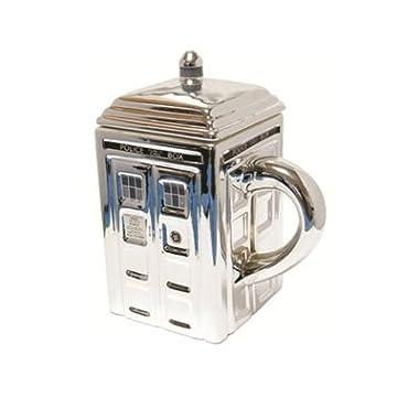 Doctor Who TARDIS 3-D Ceramic Silver Mug