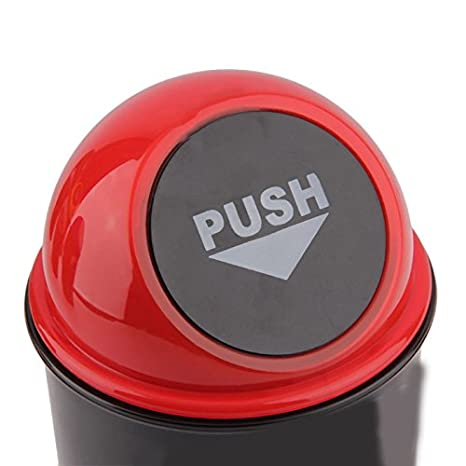 Red Easyinsmile Car Trash Bin Mini Rubbish Bin Can Carbage Dust Case Storage Holder