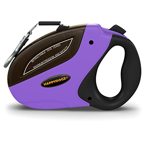 Security Pro Retractable Dog Leash - Smooth Retraction, Strong Locking Mechanism and a Comfortable Ergonomic Design - No Tangle Nylon Lead Extends Up to 16 feet- For Small to Medium Dogs Up to 44lbs