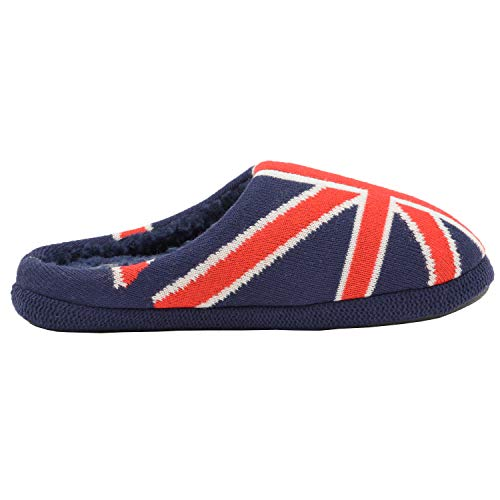 Interior De Casa Bandera Pantuflas Talón Unido Sin Reino Hombre Dunlop Zapatos IfFwS