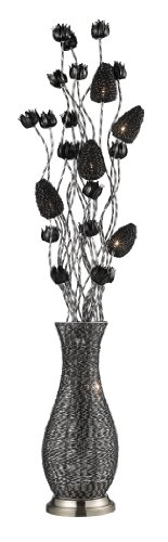 Dimond D2128 10-Inch Width by 55-Inch Height Cyprus Grove Floor Lamp in Chrome and Black