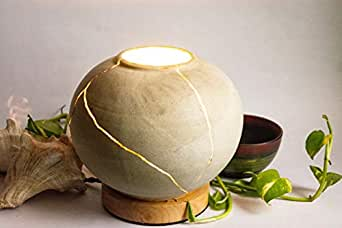 Kintsugi Electric Lamp (Fully Functioning Electric lamp Based on Traditional kintsukuroi Technique)