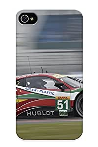New Snap-on Standinmyside Skin Case Cover Compatible With Iphone 4/4s- 6 Hours Of Silverstone 2014 Af Corse Ferrari 458 Gte 2