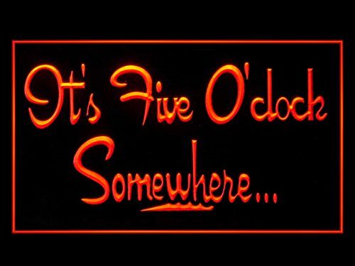 It's 5 O'Clock Somewhere Margarita Drink Bar Led Light (Margarita Neon Sign)