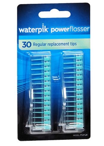 WaterPik Flosser Regular Replacement Tips, Model FT-01 30 tips (Pack of 3)