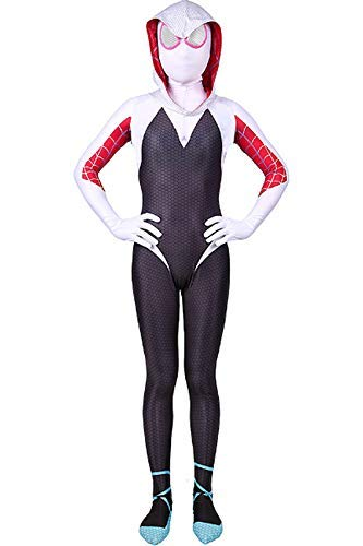 Adult Kids Gwen Stacy Miles Morales Peter Parker Cosplay Costume Bodysuit Spider-verse Far From Home Jumpsuit -