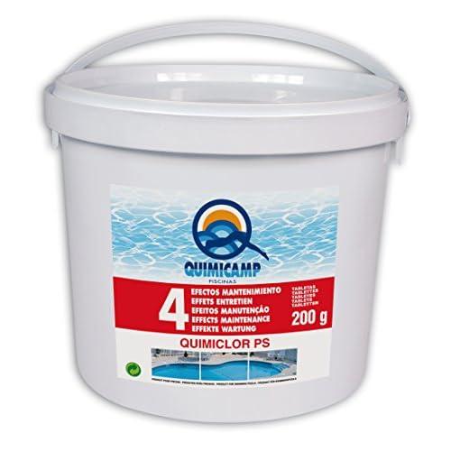 41XBGU6D3oL. SS500 Desinfectante, algicida, floculante, corrector de ph y antical 2/3 bloques por 50 metros cubicos de agua para 4 semanas aprox. Situar los bloques sin la tapa en el skimmer y hacer funcionar el filtro por lo menos 4 horas al dia