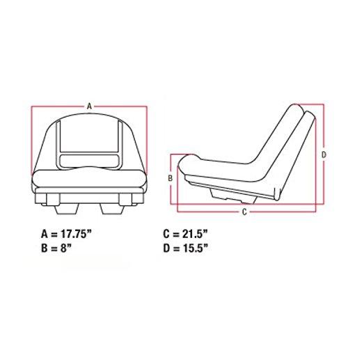 John Deere Lawn Mower Tractor Seat G110 L100 L105 L110 L118 L120 L130 L135 L145