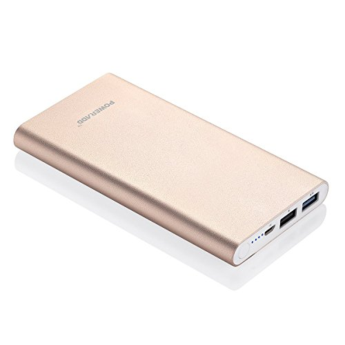 [Upgraded] Poweradd 3.4A Pilot 2GS 10000mAh strengthen USB portable Charger External Battery Pack with the help of High-Speed ask for for iPhone iPad Samsung Galaxy and more - Gold (Apple Cable Not Included)