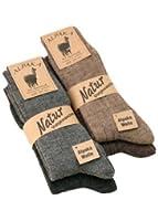 Calze, calzettoni da lana alpaca custodia, da uomo e donna, in lana e alpaca, morbida e calda, 1, 2 o 4 paia