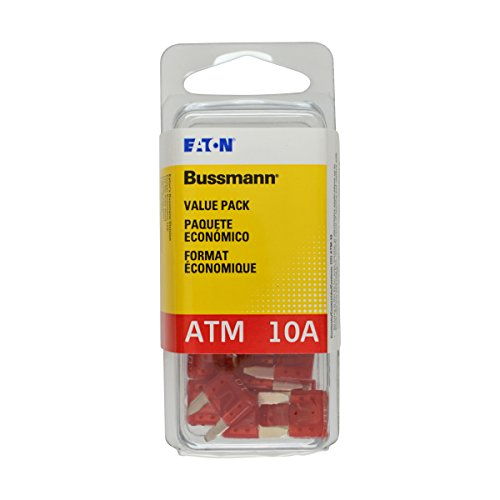 Bussmann (VP/ATM-10-RP) Red 10 Amp Fast Acting ATM Mini Fuse, (Pack of 25)