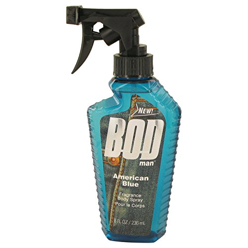Bod Man American Blue by Parfums De Coeur Body Spray 8 oz for Men