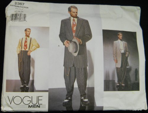 Vogue Men 2367 Zoot Suits Sizes 32-34-36 (Zoot Pattern Suit)