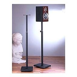 Surround Sound Speaker Stand in Black - Set of 2