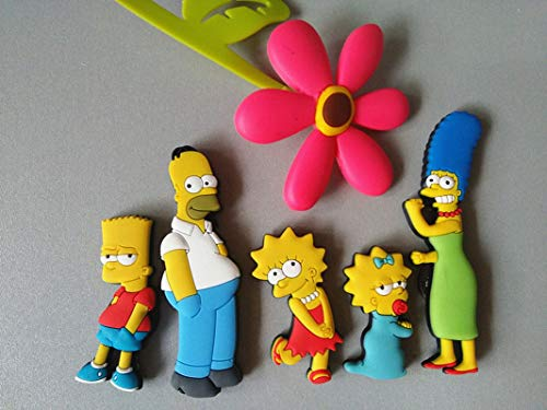 Homer Simpson family cartoon creative fridge magnet early education decorative refrigerator Sticker home decor Five people