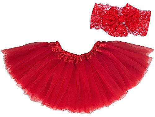 Dancina Newborn Tutu and Headband Set 6-24 Months Red]()