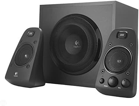 Logitech Z623 200 Watt Home Speaker System, 2.1 Speaker System  (Black)