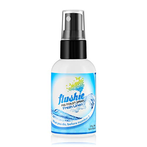 Flushie Pre-Toilet Sprays 2-Ounce Bottle, Fresh Linen Scent