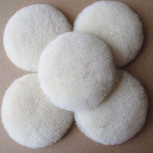 (10pcs 3'' Wool Buffing Pad Polishing Backing Buffer pad )