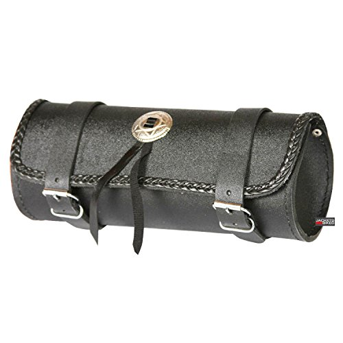 - LEATHER MOTORCYCLE TOOL BAG BAGS BOX FORK SADDLEBAGS