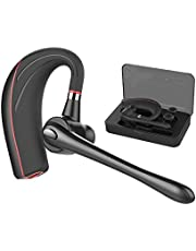 Bluetooth Headset, Handsfree Wireless Earpiece with Mic and Mute Key for Business/Driving, Support iPhone/Samsung and Other Smart Cellphone