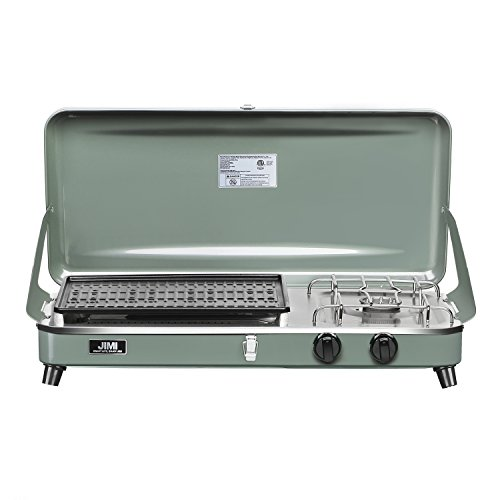 7eb47a69e4decc Outdoor Dual-Burner Camping Grill/Stove Portable Gas Grill Tailgating  Cooker with Hose and Adapter Baihe ...