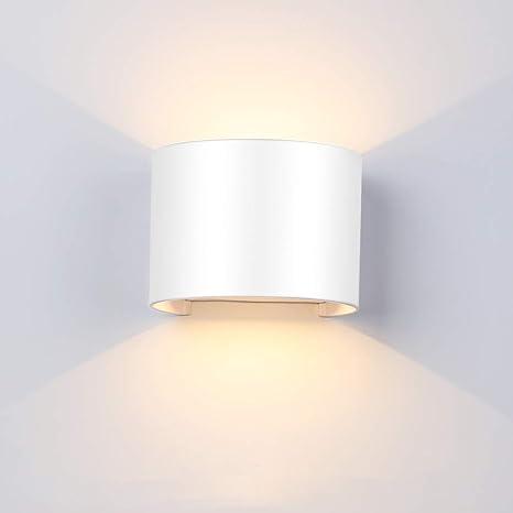 Wandleuchte inkl heller 12W LED weiss Wandlampe Wand Leuchte Beleuchtung Flur