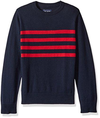 Washed Crewneck Sweater (The Children's Place Big Boys' Crewneck Sweater, Tidal, Medium/7/8)