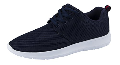 T&Mates Mens Comfort Lace-Up Fashion Sneakers Breathable Sport Running Athletic Shoes (Navy, 12 D(M) US)