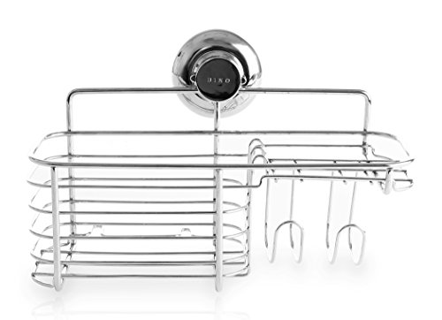 Amazon com  BINO SMARTSUCTION Chrome Shower Caddy  Combo Basket  Home    Kitchen. Amazon com  BINO SMARTSUCTION Chrome Shower Caddy  Combo Basket