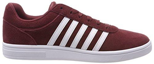Rosso Sde Uomo white K Cheswick swiss Sneaker Court oxblood xwfRZHqz