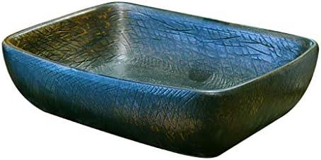 DS- バスルームの洗面台、(タップ無し)家庭セラミックカウンターバニティ技術流域浴室シンク流域単一流域、48X36X15cm 洗面ボール && (Size : 48X36X15cm)
