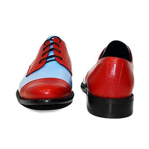 Azul Encaje Vestir Mano Modello Italiano Poppy Cuero Peppeshoes Suave Hecho A Zapatos Hombre Oxfords Piel pqUT6z