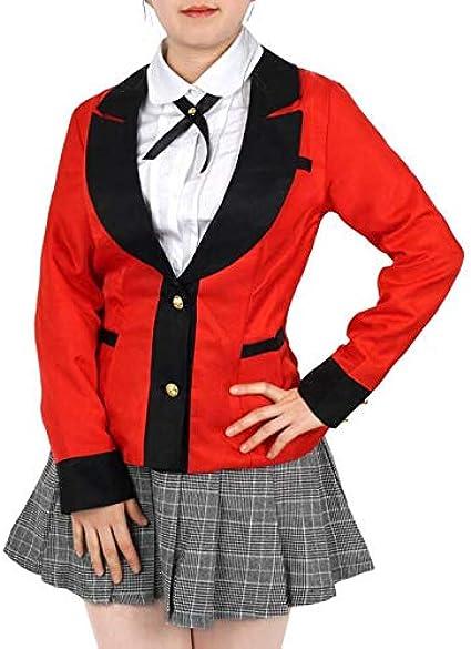 Topcosplay Cosplay Jabami Yumeko Per/ücke von Kakegurui Lange Gerade Schwarze Per/ücke Anime Per/ücke f/ür Halloween Kost/üm