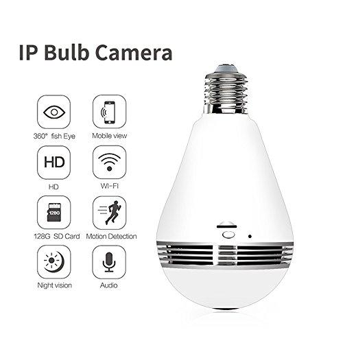 wifi bulb security camera 360 degree wireless app operate
