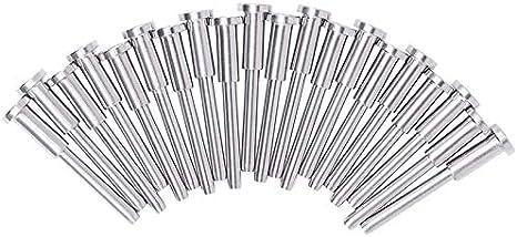 Etase 20 Piezas Receptor Invisible de Acero Inoxidable y Extremo de Perno Prisionero para Barandilla de Cable de 1/8 de Pulgada, Accesorio Extremo Roscado para Poste de Madera y Metal