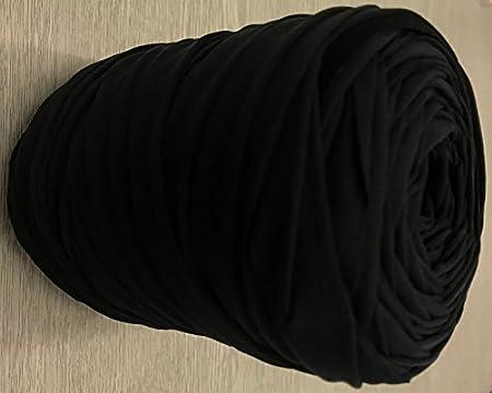 M T Shirt Recycelt Jersey Stricken Häkeln Teppich Garn Schwarz