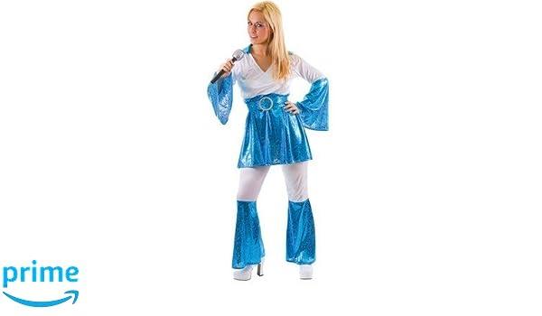 70s Disfraz de cantante para mujer, talla L: Amazon.es: Juguetes y juegos