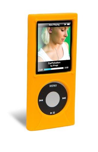 iFrogz iPod Nano 4G Wrapz Silicone Case (Orange) - Ifrogz Ipod Nano