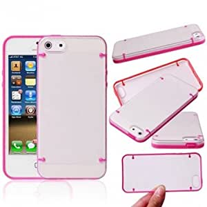 Luminous Double Color Hard Back Case Cover For iPhone 5C --- Color:Pink