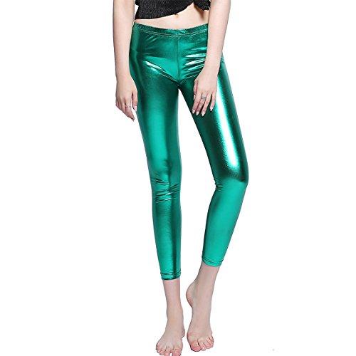 Sequin Halloween Leggings Sequin Mermaid Leggings Halloween 2017 Women Fitness Legging Green M (Leggings Sequin Print)