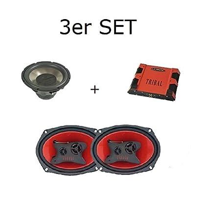 La – Set Paquete De Sonido con Subwoofer + Amplificador + 1 Par Altavoces